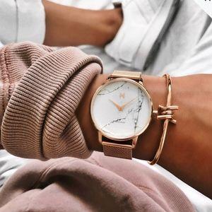Women's Gold Marble watch by MVMT